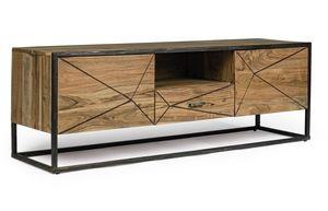 TV-Ständer 2A-1C Egon, Fernsehständer aus Akazienholz