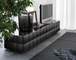 VENICE tv stand, TV-Schrank mit 2 Schubladen, in Laminat mit PVC beschichtet