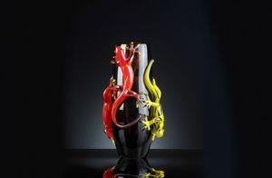 4 Gechi Big Vase, Handgefertigte Glasvase