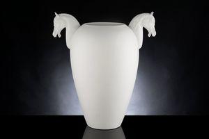 Horse Big Vase, Dekorative Vase aus bearbeiteter Keramik
