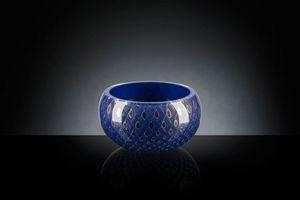 Mocenigo vase bowl, Dekorative Vase aus mundgeblasenem Glas