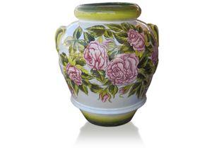 Orcio Rose, Handdekoriertes Glas