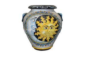 Orcio Sole e Luna Classic, Terrakottaglas verziert