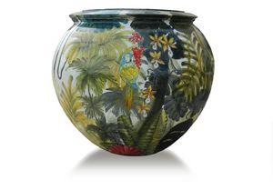 Sphere-Pot Amazzonia, Kugelglas aus Terrakotta