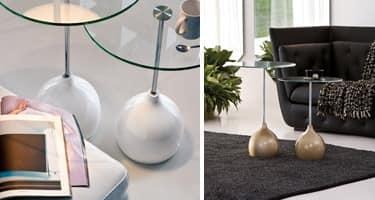 ADACHI, Kaffeetisch mit alternativen Design, in Glas und Marmor