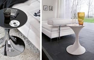 ANDORRA, Runder Tisch aus Metall mit Glasplatte gemacht