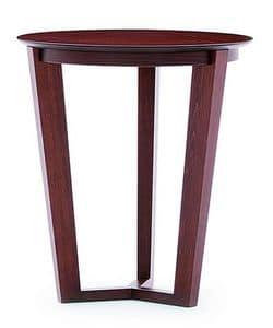 Flen 901 - 902, Runder Couchtisch, einem Buchenholzgestell, Buche oder Marmorplatte