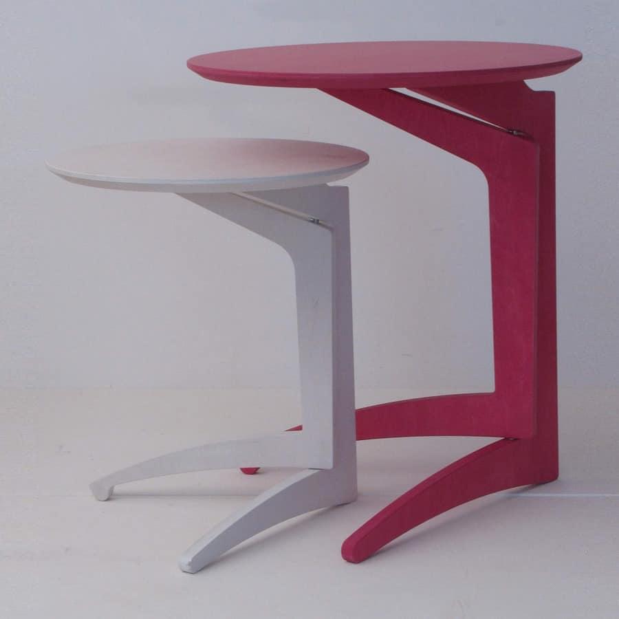 Twin Milano, Klapptisch in Buche, moderner Stil