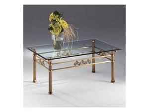 VIVALDI 1066, Couchtisch aus Glas und Metall, für die Fein Wohnzimmer