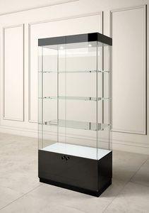 Glossy GL/10A, Vitrine mit Glasböden