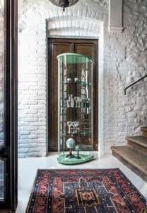 OLIVELLA, Vitrine mit Holzboden, Glasböden, für Museum