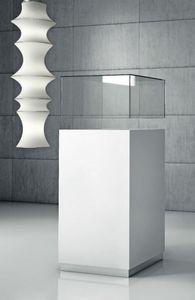Quadratum Q/50 – Q/50CC, Schrank mit Vitrine aus Glas oder Plexiglas