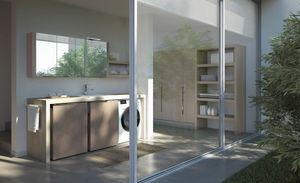 Spazio Time comp.04, Wäscherei-Möbel mit Hochschrank mit ausziehbarem Zubehör