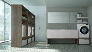 Spazio Time comp.06, Funktionsmöbel für Wäsche