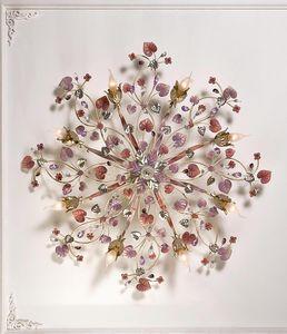 97808, Deckenleuchte mit dekorativen Blättern