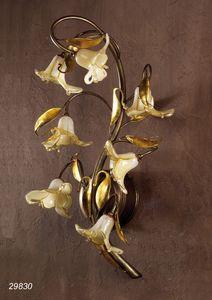 Art. 29830 Jolie, Wandlampe aus Messing und geblasenem Glas