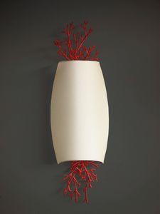 CORALLI HL1048WA-2, Wandlampe aus Eisen und roter Koralle