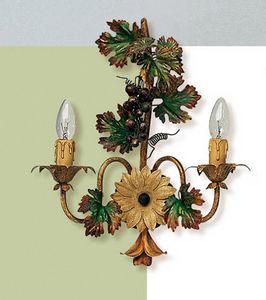 L.5190/6, Wandlampe mit Dekorationen in Form einer Weintraube