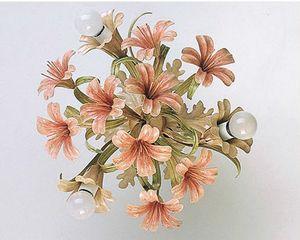 PL.4365/3, Deckenleuchte aus Glas mit Blumenenden