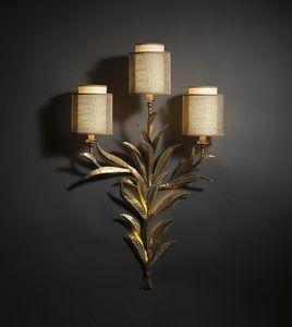 TIMELESS HL1005WA-3, Wandlampe mit Eisenblättern und Lampenschirmen