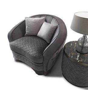 ART. 3310, Sessel mit abgerundeten Design