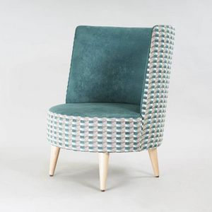 BS528P - Sessel, Sessel mit abgerundeter hoher Rückenlehne