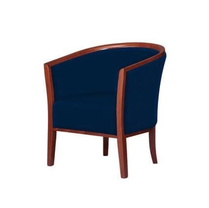 C15, Bequemen, gepolsterten Sessel für Warteräume und Lounges