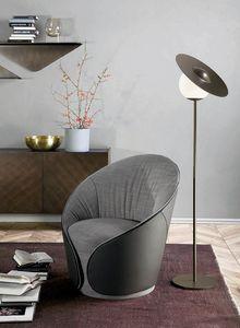 MAMA  Sessel, Sessel komplett mit Leder oder Kunstleder bezogen