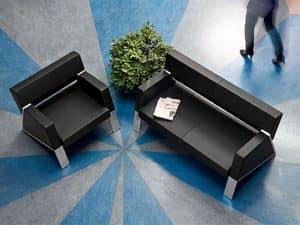 Auros 52000, Sessel aus Leder für den Wartebereich