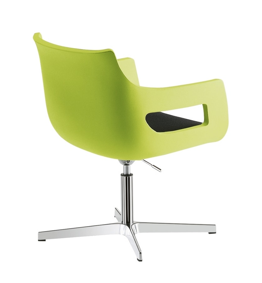 Day&Night, Stuhl aus Polyethylen, höhenverstellbar