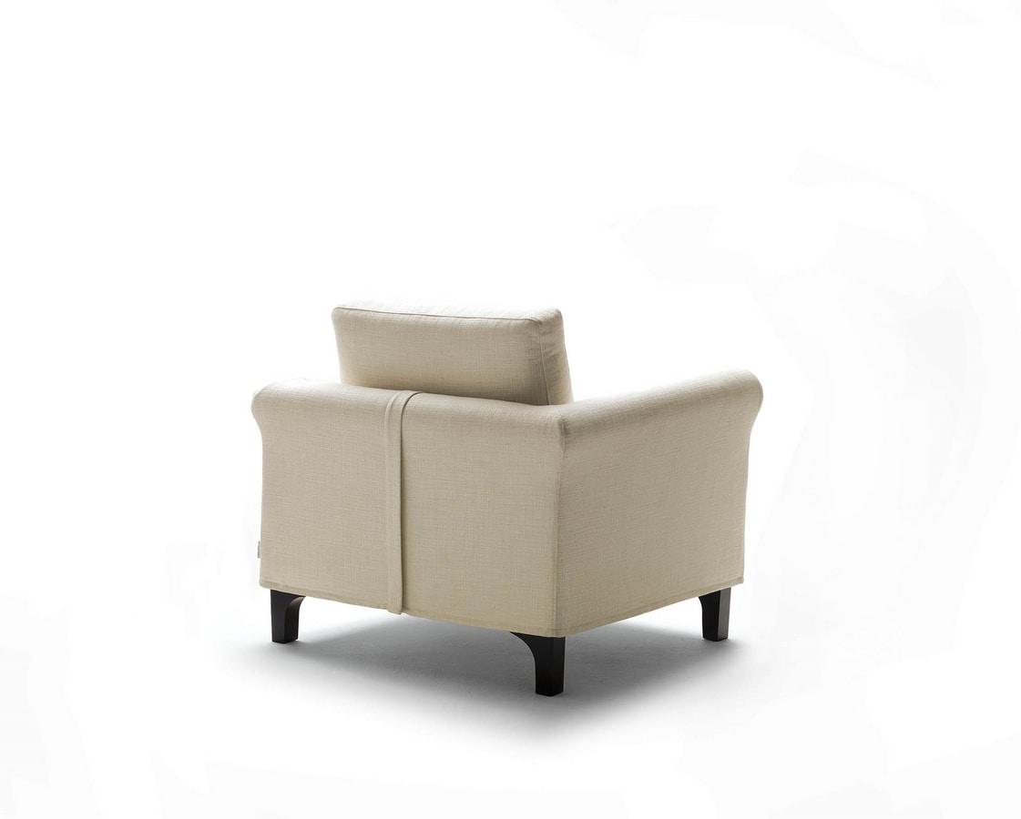 Greta, Klassischer Sessel für Wohnzimmer