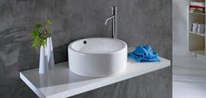 BOLD RING BASIN, Waschbecken aus Keramik mit großen Kanten