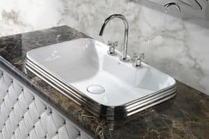 CLASS RECTANGULAR BASIN, Luxus-Waschbecken aus Keramik