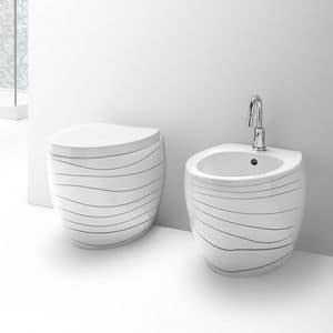 OVAL WC BIDET, Sanitärartikel aus Keramik, verschiedene Veredelung erhältlich