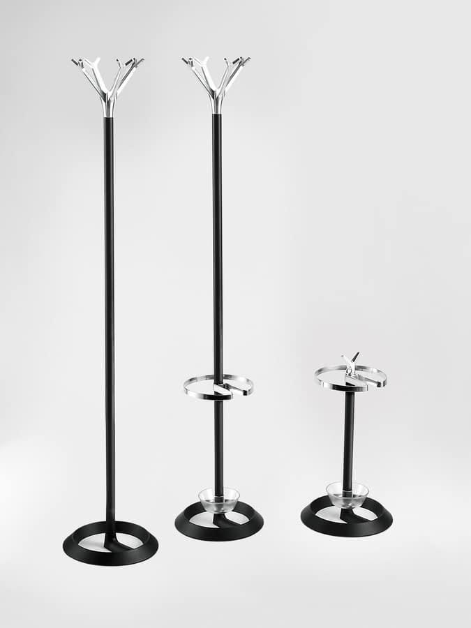 Battista, Fußboden Kleiderbügel, Gusseisen Basis, Aluminium und Stahlrahmen