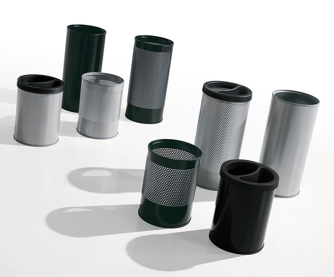 Hi-Tech, Abfallbehälter und Schirmständer aus lackiertem Stahl