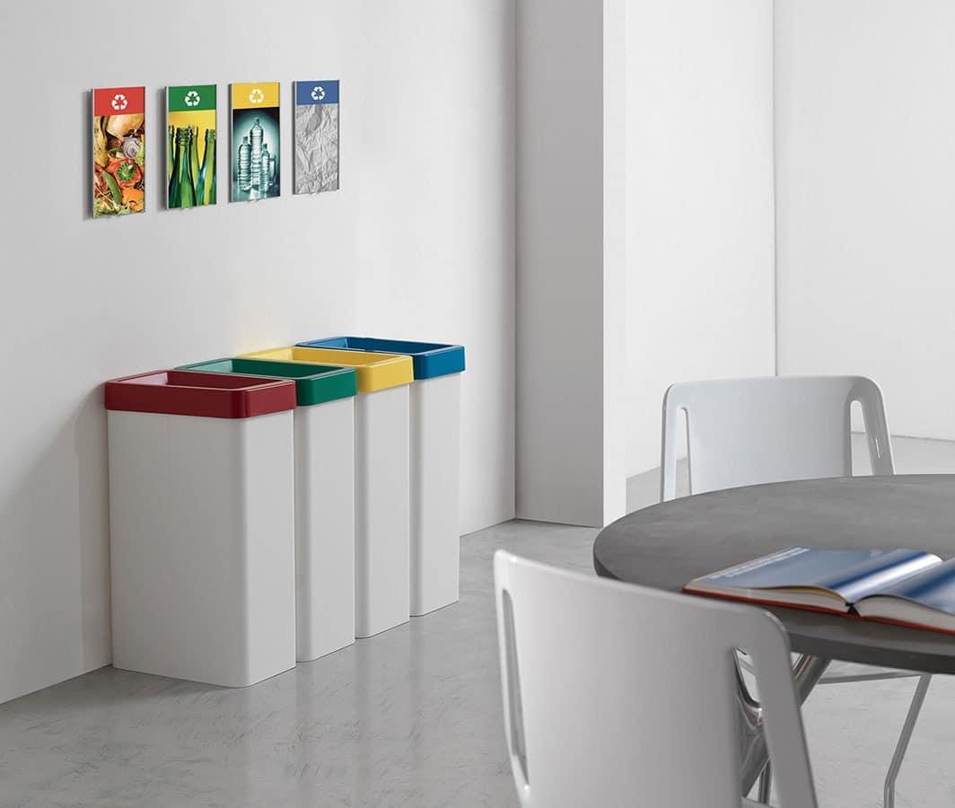 Maxi, Behälter für Recycling, für Geschäfte und Büros