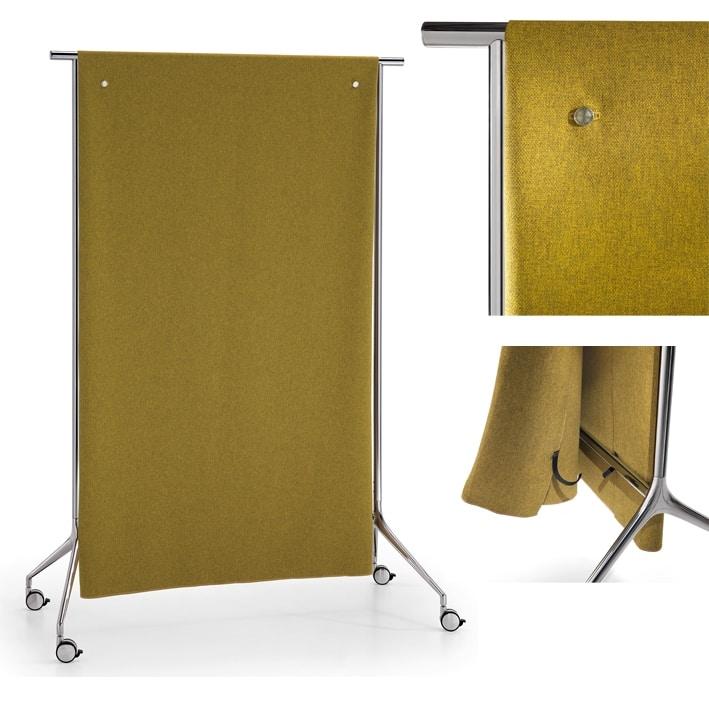 Speech divisorio-stander, Kleiderständer, umwandelbar in eine Trennwand