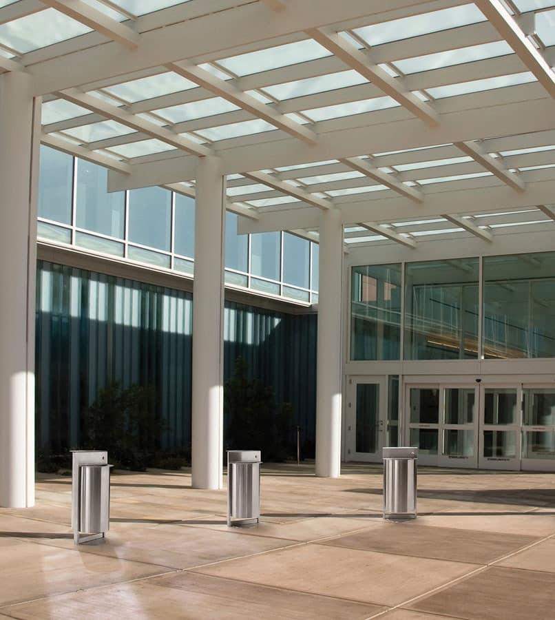 Torre, Stahl Aschenbecher mit Beutelhalter, für den Außenbereich