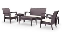 Minorca Set, Moderne Sitz und Tisch, in Rattan, für den Außeneinsatz
