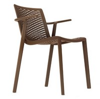 Kiranet-P, Moderne stapelbarer Stuhl, verschiedene Farben, für Gärten