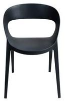 Camilla, Moderner Stuhl, in verstärktem Kunststoff, für Hof und Bar