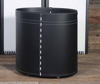 B-24, Zylindrischen Behälter für Holz, in Leder, für Kamin