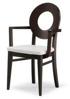 PL 47 / UHP, Stuhl mit Holzrücken und Polstersitz, in verschiedenen Farben