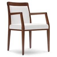PL 49 EP, Sessel aus Holz, Sitz bedeckt in Kunstleder, zu Restaurants und Hotels