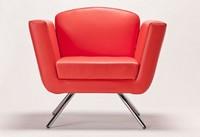 PL 999.01, Sessel mit Metallgestell, gepolstert, zum Hotel