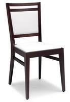 SE 4472 / C, Stuhl aus Buche, in Kunstleder überzogen, für Vertrags-und Inlands