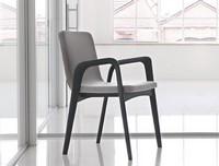Mia, Linear Stuhl aus massiver Eiche, für Hotels