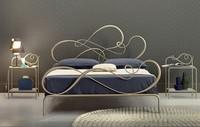Blues Doppelbett, Klassische Eisenbett Elegantes Schlafzimmer