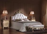 713 BETT, Luxury klassischen Doppelbett mit Kopfteil getuftete